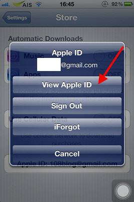 how to change apple id password on iphone 5c
