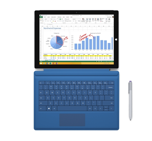 Surface Pro 3 with Type Cover and Surface Pen_2